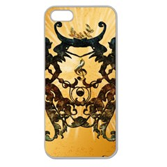 Clef With Awesome Figurative And Floral Elements Apple Seamless iPhone 5 Case (Clear)