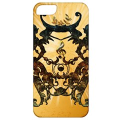 Clef With Awesome Figurative And Floral Elements Apple iPhone 5 Classic Hardshell Case