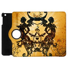 Clef With Awesome Figurative And Floral Elements Apple iPad Mini Flip 360 Case