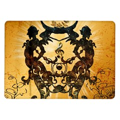 Clef With Awesome Figurative And Floral Elements Samsung Galaxy Tab 10.1  P7500 Flip Case