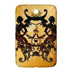 Clef With Awesome Figurative And Floral Elements Samsung Galaxy Note 8.0 N5100 Hardshell Case