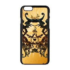 Clef With Awesome Figurative And Floral Elements Apple iPhone 6/6S Black Enamel Case