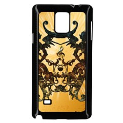 Clef With Awesome Figurative And Floral Elements Samsung Galaxy Note 4 Case (black)