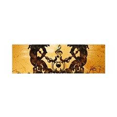 Clef With Awesome Figurative And Floral Elements Satin Scarf (oblong)