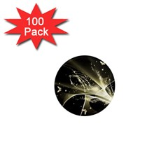 Awesome Glowing Lines With Beautiful Butterflies On Black Background 1  Mini Magnets (100 pack)
