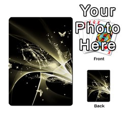 Awesome Glowing Lines With Beautiful Butterflies On Black Background Multi-purpose Cards (Rectangle)