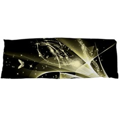 Awesome Glowing Lines With Beautiful Butterflies On Black Background Body Pillow Cases (Dakimakura)