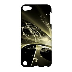 Awesome Glowing Lines With Beautiful Butterflies On Black Background Apple iPod Touch 5 Hardshell Case
