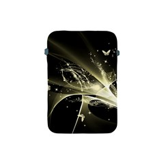 Awesome Glowing Lines With Beautiful Butterflies On Black Background Apple iPad Mini Protective Soft Cases