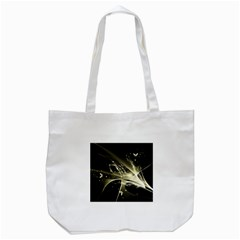 Awesome Glowing Lines With Beautiful Butterflies On Black Background Tote Bag (white)