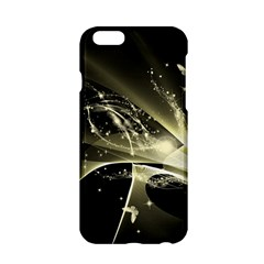 Awesome Glowing Lines With Beautiful Butterflies On Black Background Apple iPhone 6/6S Hardshell Case
