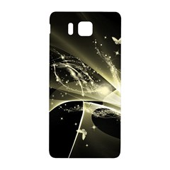 Awesome Glowing Lines With Beautiful Butterflies On Black Background Samsung Galaxy Alpha Hardshell Back Case