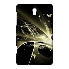 Awesome Glowing Lines With Beautiful Butterflies On Black Background Samsung Galaxy Tab S (8.4 ) Hardshell Case