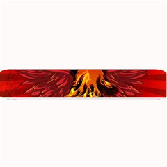 Lion With Flame And Wings In Yellow And Red Small Bar Mats
