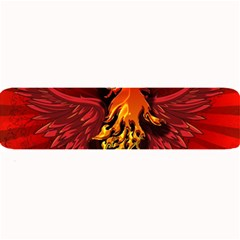 Lion With Flame And Wings In Yellow And Red Large Bar Mats