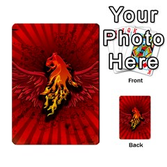 Lion With Flame And Wings In Yellow And Red Multi-purpose Cards (Rectangle)