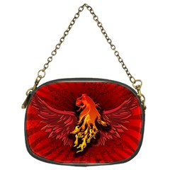 Lion With Flame And Wings In Yellow And Red Chain Purses (Two Sides)