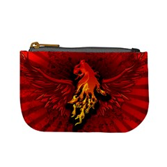 Lion With Flame And Wings In Yellow And Red Mini Coin Purses