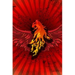 Lion With Flame And Wings In Yellow And Red 5.5  x 8.5  Notebooks