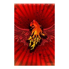 Lion With Flame And Wings In Yellow And Red Shower Curtain 48  X 72  (small)