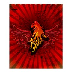 Lion With Flame And Wings In Yellow And Red Shower Curtain 60  X 72  (medium)