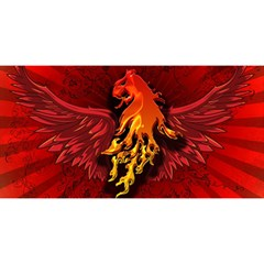 Lion With Flame And Wings In Yellow And Red YOU ARE INVITED 3D Greeting Card (8x4)