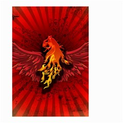Lion With Flame And Wings In Yellow And Red Small Garden Flag (two Sides)