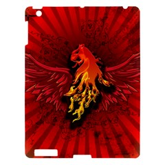 Lion With Flame And Wings In Yellow And Red Apple iPad 3/4 Hardshell Case