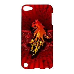 Lion With Flame And Wings In Yellow And Red Apple iPod Touch 5 Hardshell Case