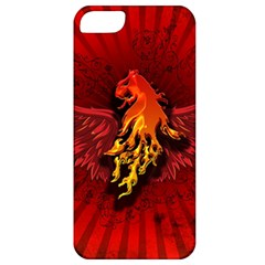 Lion With Flame And Wings In Yellow And Red Apple iPhone 5 Classic Hardshell Case