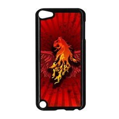 Lion With Flame And Wings In Yellow And Red Apple iPod Touch 5 Case (Black)