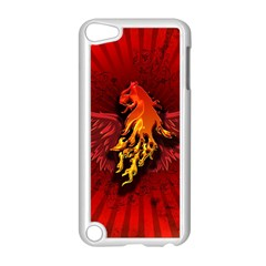 Lion With Flame And Wings In Yellow And Red Apple iPod Touch 5 Case (White)