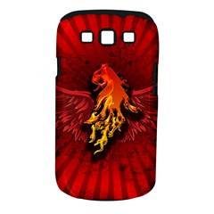 Lion With Flame And Wings In Yellow And Red Samsung Galaxy S III Classic Hardshell Case (PC+Silicone)