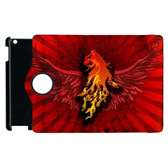 Lion With Flame And Wings In Yellow And Red Apple iPad 3/4 Flip 360 Case