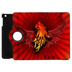 Lion With Flame And Wings In Yellow And Red Apple iPad Mini Flip 360 Case
