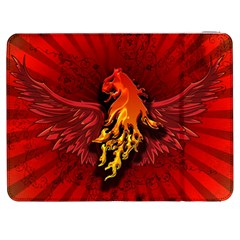 Lion With Flame And Wings In Yellow And Red Samsung Galaxy Tab 7  P1000 Flip Case