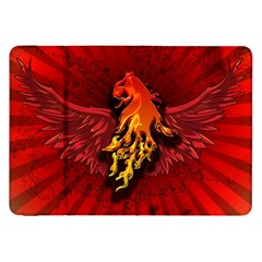 Lion With Flame And Wings In Yellow And Red Samsung Galaxy Tab 8.9  P7300 Flip Case