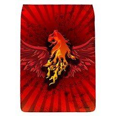 Lion With Flame And Wings In Yellow And Red Flap Covers (S)