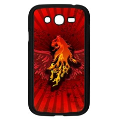Lion With Flame And Wings In Yellow And Red Samsung Galaxy Grand DUOS I9082 Case (Black)