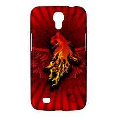 Lion With Flame And Wings In Yellow And Red Samsung Galaxy Mega 6.3  I9200 Hardshell Case