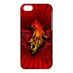 Lion With Flame And Wings In Yellow And Red Apple iPhone 5C Hardshell Case