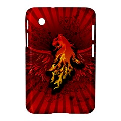 Lion With Flame And Wings In Yellow And Red Samsung Galaxy Tab 2 (7 ) P3100 Hardshell Case