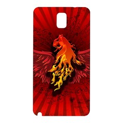 Lion With Flame And Wings In Yellow And Red Samsung Galaxy Note 3 N9005 Hardshell Back Case