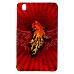 Lion With Flame And Wings In Yellow And Red Samsung Galaxy Tab Pro 8 4 Hardshell Case