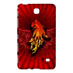 Lion With Flame And Wings In Yellow And Red Samsung Galaxy Tab 4 (7 ) Hardshell Case
