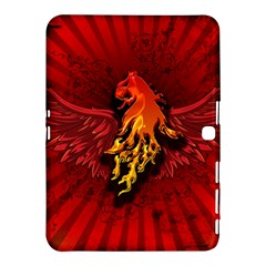 Lion With Flame And Wings In Yellow And Red Samsung Galaxy Tab 4 (10.1 ) Hardshell Case