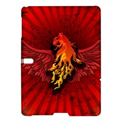 Lion With Flame And Wings In Yellow And Red Samsung Galaxy Tab S (10 5 ) Hardshell Case