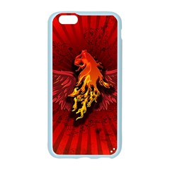 Lion With Flame And Wings In Yellow And Red Apple Seamless iPhone 6/6S Case (Color)