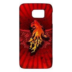 Lion With Flame And Wings In Yellow And Red Galaxy S6