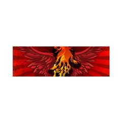 Lion With Flame And Wings In Yellow And Red Satin Scarf (oblong)